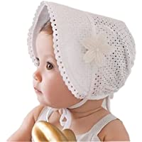 SAMGU Cappellino Neonata Elegante per Bambina Principessa Neonata Sottogola Regolabile 3-24 Mesi