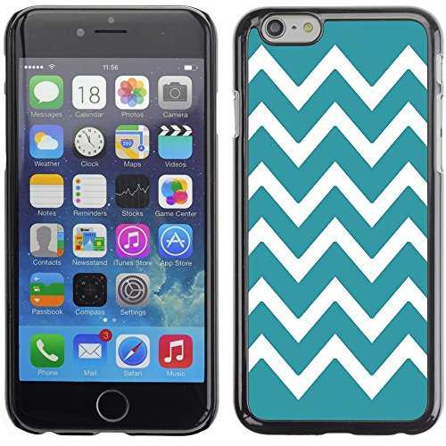 Graphic4You Chevron Muster Harte Hülle Case Tasche Schutzhülle für Apple iPhone 6 Plus / 6S Plus (Aqua Blau) Türkis