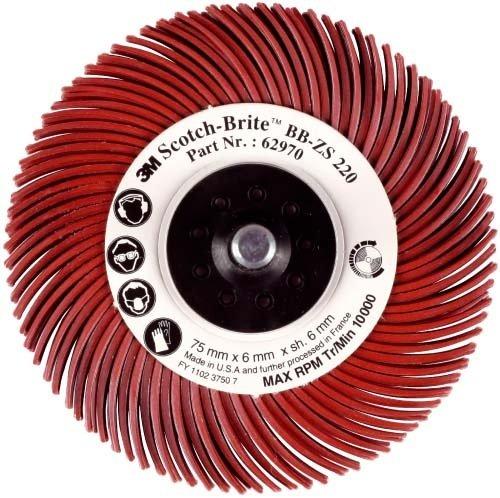 3 M BB-ZB RADIAL BERMARO CEPILLO TABLERO  TIPO C  GRANO 80  DIAMETRO 76 MM COLOR AMARILLO