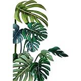 Gigicloud Vinilo decorativo para pared, diseño de hojas tropicales, hojas de eucalipto, hojas de vid de eucalipto, extraíble,