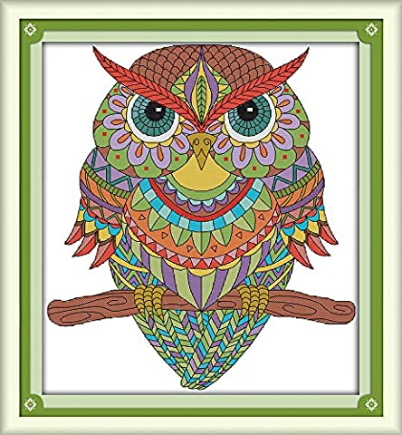 CaptainCrafts Hot New Releases Cross Stitch Kits Patterns Embroidery Kit - Owl (STAMPED)