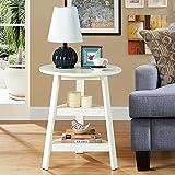 HTZ Nachttisch Massivholz Runde Tische Couchtisch Sofa Beistelltische Rround Couchtische Runder Tisch Seitenschrank Beistelltisch Moderne Schlafzimmer Tisch Möbel (Zusammengebaut, Größe: 56 * 67cm) +