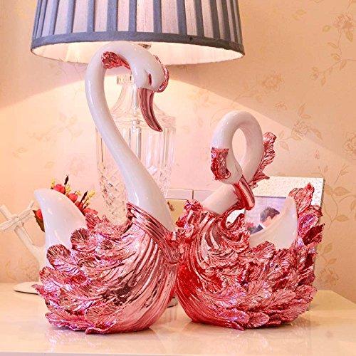 STOWNN Hochzeit Geschenke High-End-Luxus Swan Ornamente Wohnzimmer Dekorationen Kunsthandwerk Hochzeit Geschenke Im Europäischen Stil Home Improvement Soft Outfit Zeichnen Den Vollmond - Mei (Outfit Hummer)