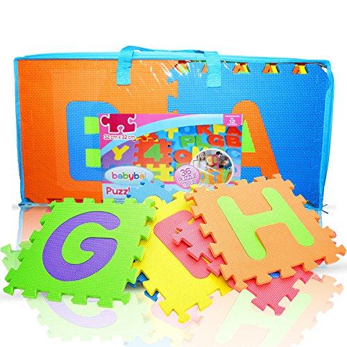 - Rand-spiel (Knallbuntes Puzzlematte Set mit extra rutschfestem Halt - Für 100% Spielspaß - 136 tlg. Babymatte mit GRATIS Tragetasche [3,7m²] (36, Blau))