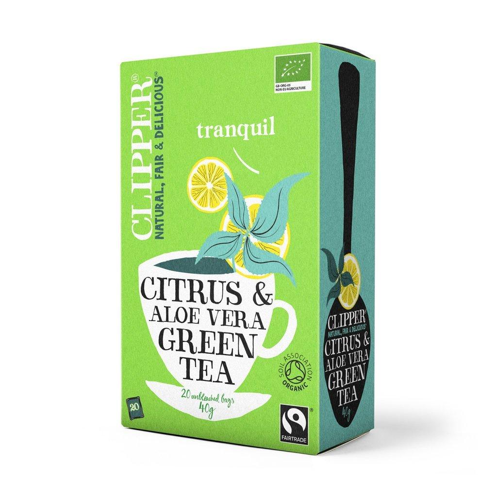 Clipper organic fairtrade green tea bundle (fairtrade, soil association) (green tea) (2 packs of 20 bags) (40 bags) (a fruity, vegetal tea with aromas of aloe vera, lemon) (brews in 1-3 minutes)