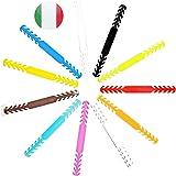 kit 11 pezzi colore multi colore fascetta regolabile protezione gancio antiscivolo per mascherina prevenzione lesioni pelle o
