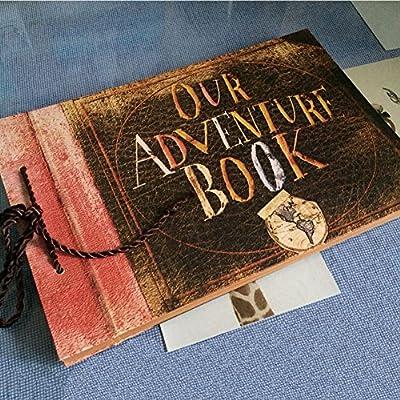 Guwheat Scrapbook Album Foto, Vintage Scrapbooking Album Fotografico Fai Da Te, Vieni con scatola regalo, Regalo di Compleanno/laurea/nozze/anniversario per donna uomo by Guwheat