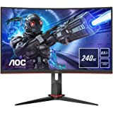 AOC Gaming 27G2ZU 68 cm (27 tum) böjd skärm (FHD, HDMI, DisplayPort, USB-hubb, FreeSync, 0,5 ms svarstid (MPRT), 240 Hz, 1920