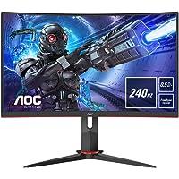 AOC Gaming C27G2ZU - 27 Zoll FHD Curved Monitor, 240 Hz, 0.5ms, FreeSync Premium (1920x1080, HDMI, DisplayPort, USB Hub…