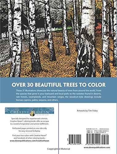 Creative Haven Beautiful Trees Coloring Book (Creative Haven Coloring Book)