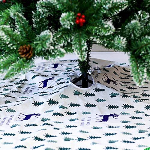 Weihnachtsbaum Decke, Schneeflock Streifen Weihnachtsbaum Rock Dekoration Rentier Gestreift Weihnachtsbaumdecke Weihnachtsbaum Röcke Weihnachtsschmuck Weihnachtsbaum Deko Weihnachtsdeko (Weiß#120cm) - Die Weißen Streifen Gestreiften Rock