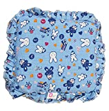#6: KIdzvilla® New Born Baby Mustard Seeds(Rai) Pillow For Baby Head Shaping Teddy Print Children'S Neck Support Pillow, Soft And Plush Cotton Baby Pillow For Easy Washing Feeding & Nursing Baby Neck Pillow (0 to 12 Month's) (Blue)