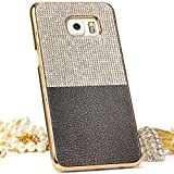 Urcover Galaxy S6 Edge Plus Coque, Elegant Diamond Étui PC Strass [Rebord Miroir] Housse Brillant Noir Téléphone Smartphone Samsung Galaxy S6 Edge Plus