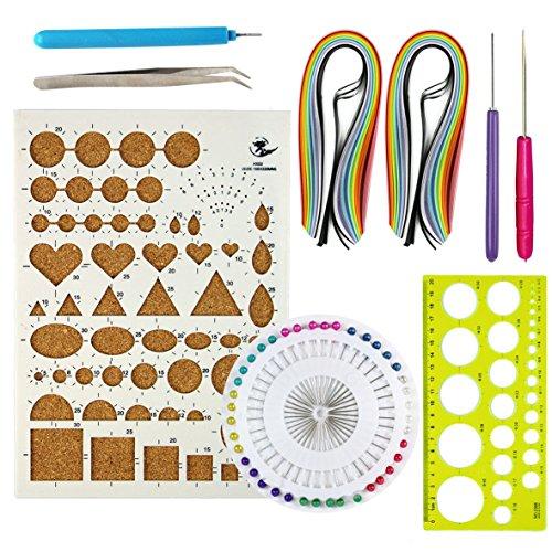 Starter kit di quilling, con tavoletta di sughero e strumenti per il fai da te