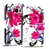 Verco Handyhülle Galaxy S7 Edge Muster, Motiv Hülle für Samsung Galaxy S7 Edge Book Case Flip Cover - Design 6