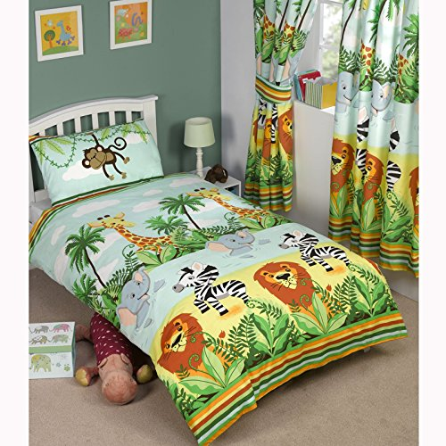 Dschungel-Tastic einzelner Bettbezug und Kopfkissenbezug Set (Baby-bettwäsche-blatt-satz)
