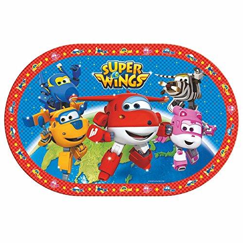 BBS Super Wings Tischset, blau, rot und weiß, 27x 42x 0.09cm (Einweg-kinder-tischsets)