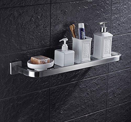 Bathroom Rack YSJ Salle de Bains Verre rectangulaire étagère Murale Verre trempé Extra épais, Section Lumineuse (Taille : 40.5 * 14.5cm)