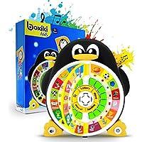 """Juguete Educativo Poder Pingüino para el Aprendizaje del ABC en inglés de Boxiki Kids Por el Centro de Juegos de Mejora del Aprendizaje Núcleo Pre-Kindergarten Materia Comprensión – El ABC, Palabras, Deletreo, Formas, """"¿Dónde está?"""" y Canciones"""