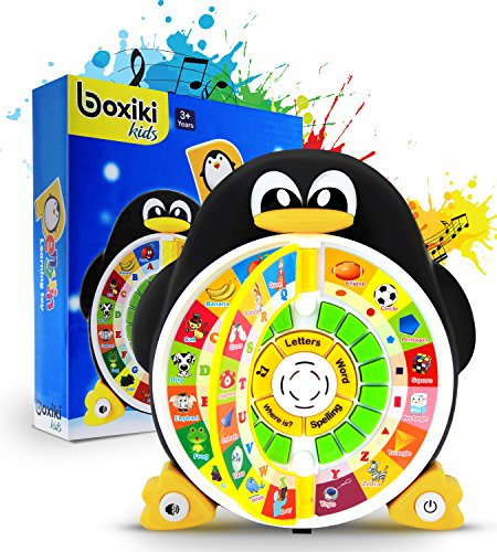 Penguin ABC Learning Educational Toy with Electronic Learning Game by Boxiki Kids. Learning ABCs, Words, Spelling, Shapes,