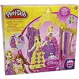 Hasbro A2592 Play-Doh - Boutique de moda de princesas Disney para crear vestidos y decorarlos (incluye 4 botes de pasta de modelar)