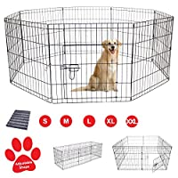 AVC Designs Pet Dog Pen Puppy Cat Rabbit Foldable Playpen Indoor/Outdoor Enclosure Run Cage (Small: Height 61cm)