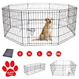 Pet Dog Pen Puppy Cat Rabbit Foldable Playpen Indoor/Outdoor Enclosure Run Cage (Large: Height 91cm)