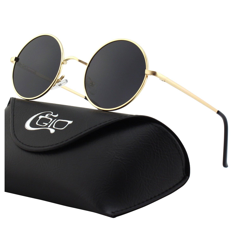 CGID Retro Vintage Sonnenbrille inspiriert von John Lennon polarisiert mit run o1JK0T