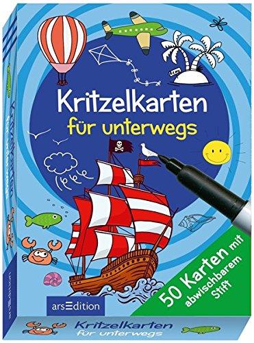 Kritzelkarten für unterwegs: Mit abwischbarem Stift (50 Karten)
