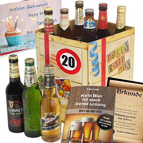 20 geburtstag geschenk f r freund biere der welt geschenkset gratis geschenk karten. Black Bedroom Furniture Sets. Home Design Ideas
