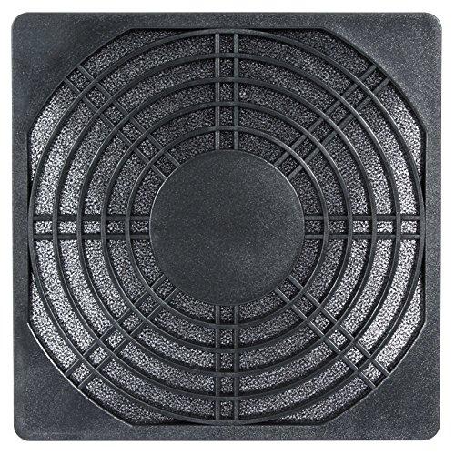 Kunststoff Lüftergitter (Kunststoff Lüftergitter 80 mm mit Filter - schwarz)