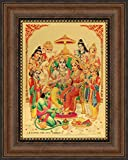 #4: Avercart Lord Rama / Shree Ram Darbar / Sri Ram, Laxman, Janki (Sitaji), Bharat, Shatrughan and Hanuman / Hanumanji Poster 5x7 inch with Photo Frame (13x18 cm framed)