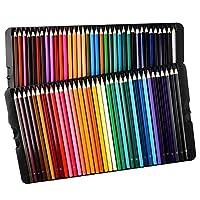 Lapices de Colores LiSmile 72 Afilado Lápiz de Color hay Código y Tarjeta de Colores. Listo Usar, Ordenar y Sacar desde Caja de Metal Perfecto para Dibujar, Bosquejar Obras de Arte y Libros de Colorear para Adultos y Niños