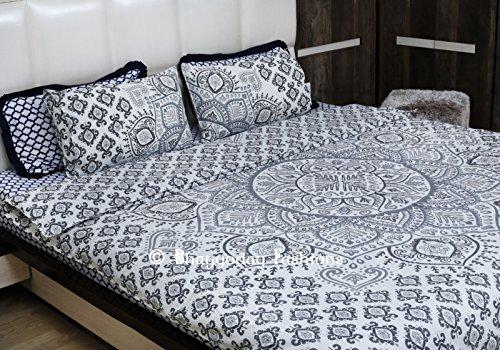 Baumwolle Queen-size Bettbezug (indischen Urban Mandala Bettbezug Doona, wendbar, Hippie Mandala Decke, Schmusetuch Bettbezug Decor., baumwolle, grau, Queen size)