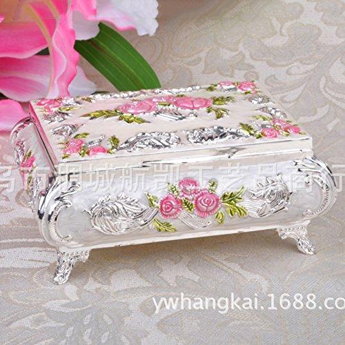 Julytong Schmuckdosen stilvolle und kreative Farbe Schmuck Antik Schmuck Boxen von Rosen pink...