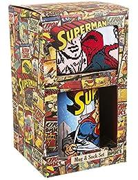 DC apparel Lot mug et chaussettes Superman de style vintage