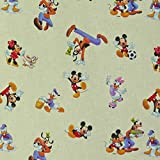 Disney Entenhausen creme Stoff Dekostoff Meterware Gardinenstoff