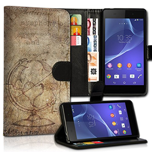 wicostar Book Style Wiko Bloom Premium PU-Leder Tasche Flip Brieftasche Handy Hülle Kartenfächer mit Standfunktion für Wiko Bloom - Design Flip MVC19