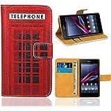 Sony Xperia Z1 Compact Handy Tasche, FoneExpert Wallet Case Flip Cover Hüllen Etui Ledertasche Lederhülle Premium Schutzhülle für Sony Xperia Z1 Compact