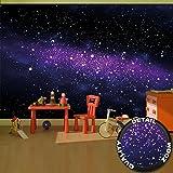 great-art Fototapete Sterne - 336 x 238 cm 8-teiliges Wandbild Sternenhimmel Fototapete Wandtapete Tapete