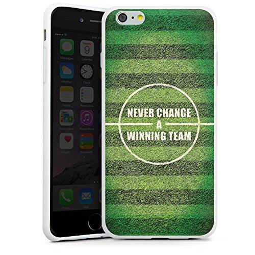 Apple iPhone 4 Silikon Hülle Case Schutzhülle fussball fußball spruch Silikon Case weiß