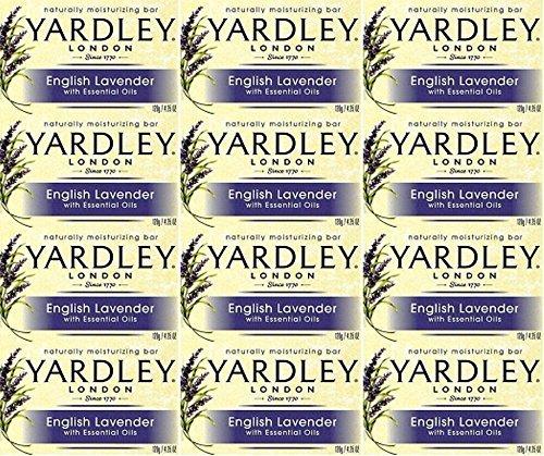 TWELVE PACKS of Yardley Lavender Soap Bar 120g