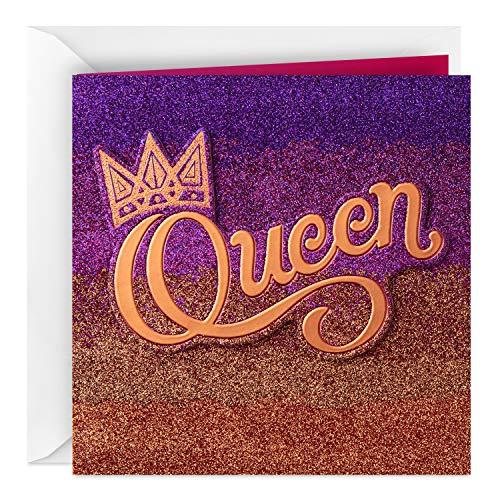 Hallmark Valentinstagskarte für Ehefrau (Queen) Mahagoni