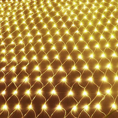 AOFENG LED Lichternetz 320LEDs 3 x 2 m Vorhang Lichter Netz Beleuchtung Deko Weihnachten Net lights Halloween, Hochzeit, Party oder Stimmung Lichter Warmweiß, 2 Stücke 3x2m