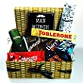 "The ""Man Munch"" Hamper Box - Glenfiddich Whiskey, Toblerone, Diary Milk Wholenut, Walnut Whip, Malteasers, Lindt & Mars - Perfect Munch For A Man! - By Moreton Gifts!"