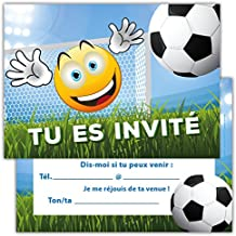 Amazon Fr Carte Invitation Anniversaire Foot