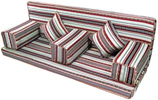 Comfy Silver And Red Design Arabic Folding Majlis Set