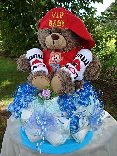 "Windeltorte""V.I.P.Baby-Teddybär-I am super""Mini-Torte,Geburt,Taufe,Hochzeit"