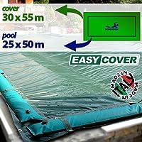 Telo di copertura invernale per piscina 25 x 50 mt con tubolari e fasce anti ribaltamento
