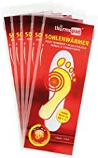 5er Pack Thermopad Sohlen-Wärmer | kuschlig warme Füße | sofort einsatzbereit | 8 Stunden lang 37°C | verschiedene Größen